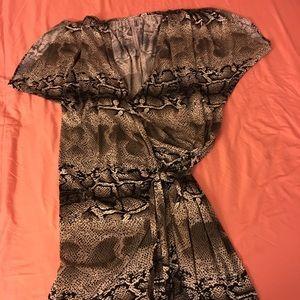ABI FERRIN Drapped Dress